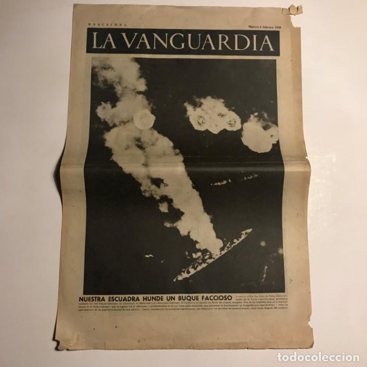 LA VANGUARDIA 1938. GUERRA CIVIL ESPAÑOLA. SR. MARTINEZ BARRIOS. SR. CASANOVAS. JUAN NEGRIN (Coleccionismo - Revistas y Periódicos Antiguos (hasta 1.939))