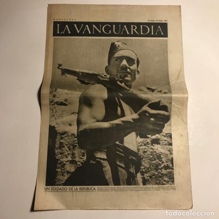 LA VANGUARDIA 1937. GUERRA CIVIL ESPAÑOLA. ARAGÓN. MADRID BOMBARDEADO. (Coleccionismo - Revistas y Periódicos Antiguos (hasta 1.939))