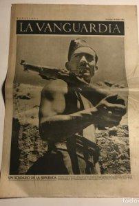 La Vanguardia 1937 Guerra civil española. Aragón. Madrid bombardeado.