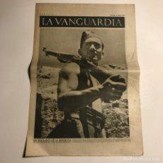 Coleccionismo de Revistas y Periódicos: LA VANGUARDIA 1937. GUERRA CIVIL ESPAÑOLA. ARAGÓN. MADRID BOMBARDEADO.. Lote 147801370
