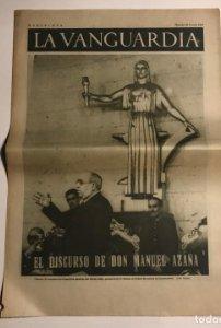 La Vanguardia 1937 Guerra civil española. Manuel Azaña. Valencia. Olmos. Antonio Agullo. Uribe