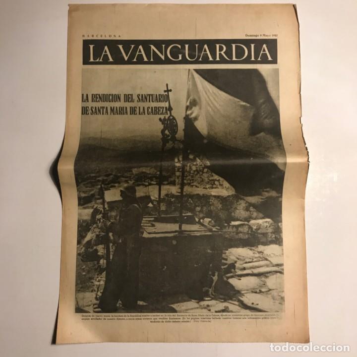 LA VANGUARDIA 1937. GUERRA CIVIL ESPAÑOLA. SANTA MARÍA DE LA CABEZA. GENERAL POZAS. SESE (Coleccionismo - Revistas y Periódicos Antiguos (hasta 1.939))