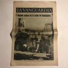 Coleccionismo de Revistas y Periódicos: LA VANGUARDIA 1937. GUERRA CIVIL ESPAÑOLA. GUADALAJARA. MASEGOSO DE TAJUÑA. DAX. DURRUTI. BUJARALOZ.. Lote 147802638