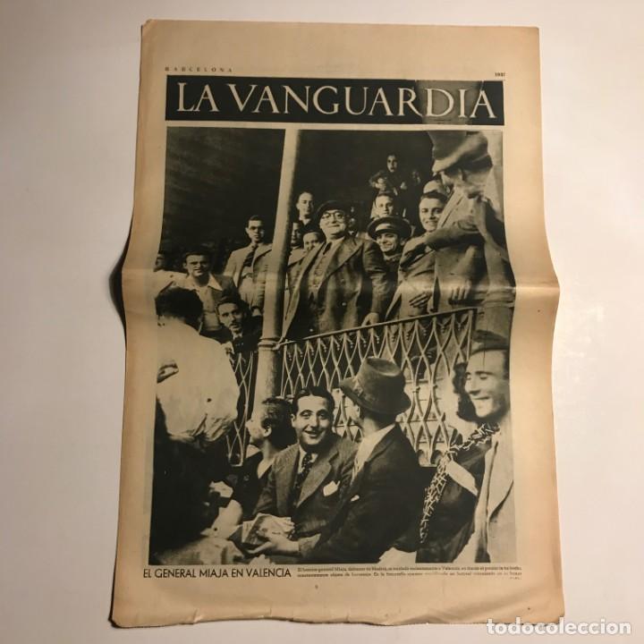 LA VANGUARDIA 1937. GUERRA CIVIL ESPAÑOLA. GENERAL MIAJA. VALENCIA. DORET. CRESCENCIANO BILBAO. (Coleccionismo - Revistas y Periódicos Antiguos (hasta 1.939))