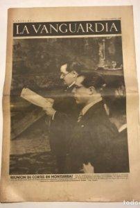 La Vanguardia 1938 Guerra civil española. Vandervelde. Negrín. Dolores Ibarruri. Indalecio Prieto