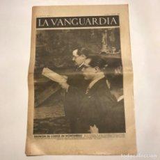 Coleccionismo de Revistas y Periódicos: LA VANGUARDIA 1938. GUERRA CIVIL ESPAÑOLA. VANDERVELDE. NEGRÍN. DOLORES IBARRURI. INDALECIO PRIETO. Lote 147804218