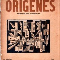 Coleccionismo de Revistas y Periódicos: ORIGENES. REVISTA DE ARTE Y LITERATURA. LA HABANA. 1954. Nº 36. VER SUMARIO.. Lote 147839026