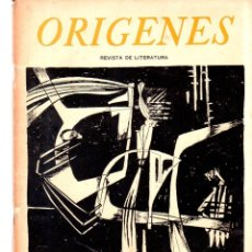 Coleccionismo de Revistas y Periódicos: ORIGENES. REVISTA DE ARTE Y LITERATURA. LA HABANA. 1954. Nº 35. VER SUMARIO. LEER.. Lote 147842754