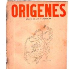 Coleccionismo de Revistas y Periódicos: ORIGENES. REVISTA DE ARTE Y LITERATURA. LA HABANA. 1946. Nº 10. AÑO III. VER SUMARIO. LEER.. Lote 147844230