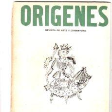 Coleccionismo de Revistas y Periódicos: ORIGENES. REVISTA DE ARTE Y LITERATURA. LA HABANA. 1944. Nº 4. AÑO I. VER SUMARIO. LEER.. Lote 147847130