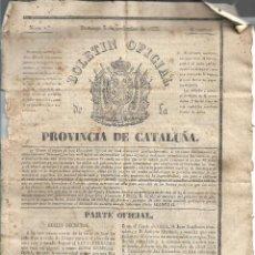 Coleccionismo de Revistas y Periódicos: BOLETIN OFICIAL DE LA PROVINCIA DE CATALUÑA, AÑO 1833. ESTA COMPLETO DEL NUM. 1 AL 26. MUY DIFICILES. Lote 147889326