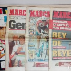 Coleccionismo de Revistas y Periódicos: PACK MIGUEL INDURAIN-TRES PERIÓDICOS Y UN ESPECIAL MARCA-AÑO 1995-INDIVISIBLE.. Lote 147897006