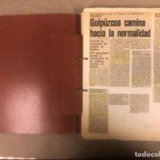 Coleccionismo de Revistas y Periódicos: DOSSIER DE PRENSA CON 87 PÁGINAS CON RECORTES DE PERIÓDICO SOBRE LAS INUNDACIONES DE BILBAO 1983 .. Lote 147897858