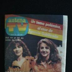 Coleccionismo de Revistas y Periódicos: REVISTA ANTENA TV, N°53, JUNIO 1981. Lote 147909876