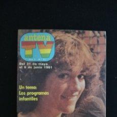Coleccionismo de Revistas y Periódicos: REVISTA ANTENA TV, N°51, MAYO-JUNIO 1981. Lote 147910404