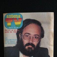 Coleccionismo de Revistas y Periódicos: REVISTA ANTENA TV, N°54, JUNIO 1981. Lote 147911274