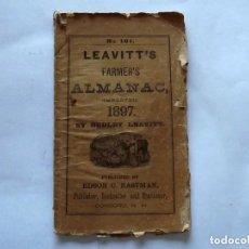Coleccionismo de Revistas y Periódicos: 1897, LEAVITT'S FARMER'S ALMANAC (IMPROVED) . Lote 147952266