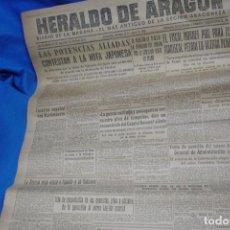 Coleccionismo de Revistas y Periódicos: HERALDO DE ARAGÓN - ZARAGOZA 12 DE AGOSTO DE 1945. Lote 148094414