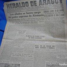 Coleccionismo de Revistas y Periódicos: HERALDO DE ARAGÓN - ZARAGOZA 6 DE JUNIO DE 1945. Lote 148096074