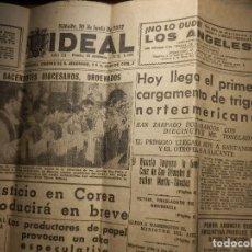Coleccionismo de Revistas y Periódicos: PERIODICO - EL IDEAL - Nº 5866 - SÁBADO 30 DE JUNIO DE 1951 - GRANADA -. Lote 148131182