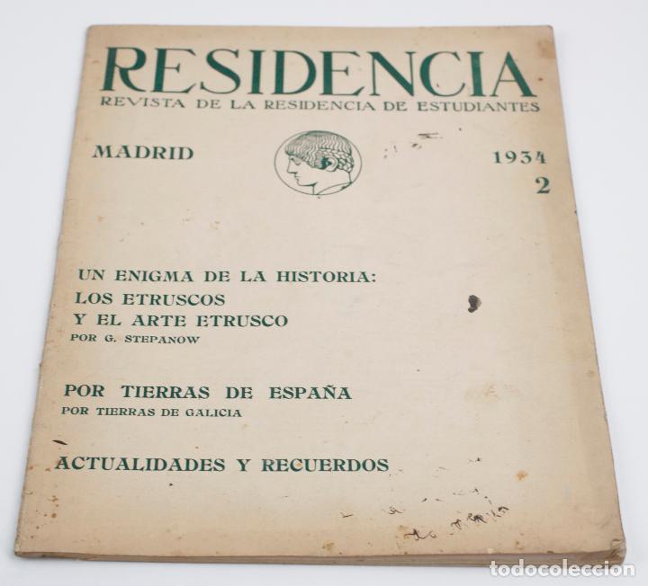 RESIDENCIA, REVISTA DE LA RESIDENCIA DE ESTUDIANTES, 1934, NÚM. 2, VOL. 5, ABRIL, MADRID. 22X28CM (Coleccionismo - Revistas y Periódicos Antiguos (hasta 1.939))
