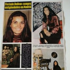 Coleccionismo de Revistas y Periódicos: HOJA REVISTA ORIGINAL AÑOS 60-70. FLORINDA BOLKAN COMPRA ANTIGÜEDADES EN MADRID. Lote 148170954