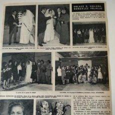 Coleccionismo de Revistas y Periódicos: HOJA REVISTA ORIGINAL AÑOS 60-70. ENLACE S.HALASA-GONZALEZ VELALLO. Lote 148171926