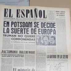 Coleccionismo de Revistas y Periódicos: EL ESPAÑOL.- NUMERO 143 DEL 21 JULIO 1945.- EN POTSDAM SE DECIDE LA SUERTE DE EUROPA. Lote 148221394