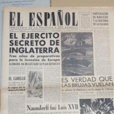 Coleccionismo de Revistas y Periódicos: EL ESPAÑOL.- NUMERO 62 DEL 1 ENERO 1944.- EL CABELLO.- NAUNDORFF FUE LUIS XVII. Lote 148222666