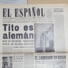 Coleccionismo de Revistas y Periódicos: EL ESPAÑOL.- NUMERO 201 DEL 31 AGOSTO 1946.- LA CASA DE LEGAZPI.- LOS ALMUERZOS DEL REY FARUK. Lote 148223870