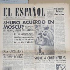 Coleccionismo de Revistas y Periódicos: EL ESPAÑOL.- NUMERO 54 DEL 6 NOVIEMBRE 1943.- LOS ORLEANS.- HACE 450 AÑOS QUE EUROPA FUMA.- . Lote 148224226