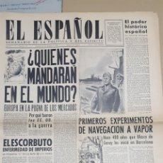 Coleccionismo de Revistas y Periódicos: EL ESPAÑOL.- NUMERO 52 DEL 23 OCTUBRE 1943.- EL ESCORBUTO.- ALMOGAVARES DE ANDALUCIA. Lote 148224534
