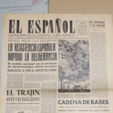 Coleccionismo de Revistas y Periódicos: EL ESPAÑOL.- NUMERO 150 DEL 8 SEPTIEMBRE 1945.- EL ABUELO DE SAN IGNACIO DE LOYOLA. Lote 148225598