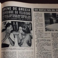 Coleccionismo de Revistas y Periódicos: IRENE DE GRECIA LLONGUERAS TERESA GIMPERA . Lote 148246358