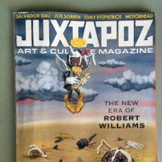 Coleccionismo de Revistas y Periódicos: REVISTA JUXTAPOZ, ART & CULTURA MAGAZINE, EN INGLES, REBERT WILLIAMS, SALVADOR DALI, JAN/FEB 2005. Lote 148312818