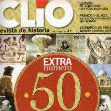 Coleccionismo de Revistas y Periódicos: REVISTA CLIO Nº 50,Nº EXTRAORDINARIO, REVISTA DE HISTORIA.. Lote 148331342