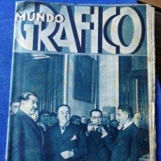 Coleccionismo de Revistas y Periódicos: REVISTA MUNDO GRÁFICO, 3 ENERO 1934- ENTIERRO F.MACIÀ (BARCELONA).. Lote 148427416