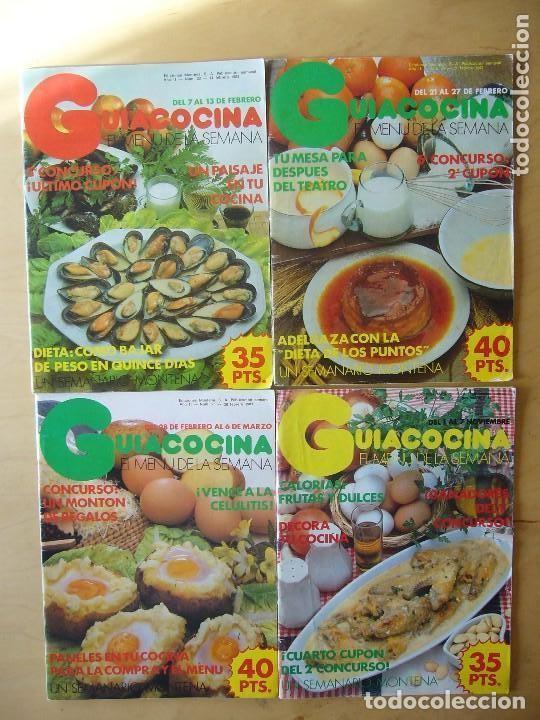 LOTE 4 REVISTAS GUIACOCINA (AÑOS 80) NOS. 8, 21, 22, 25 (Coleccionismo - Revistas y Periódicos Modernos (a partir de 1.940) - Otros)