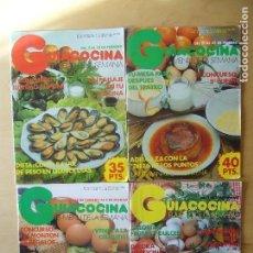 Coleccionismo de Revistas y Periódicos: LOTE 4 REVISTAS GUIACOCINA (AÑOS 80) NOS. 8, 21, 22, 25. Lote 148540774