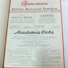 Coleccionismo de Revistas y Periódicos: 22 REVISTAS MISIONES CATÓLICAS EN 1 VOLUMEN. NºS 750 A 771. AÑOS 1951 Y 1952 COMPLETOS.. Lote 148565762