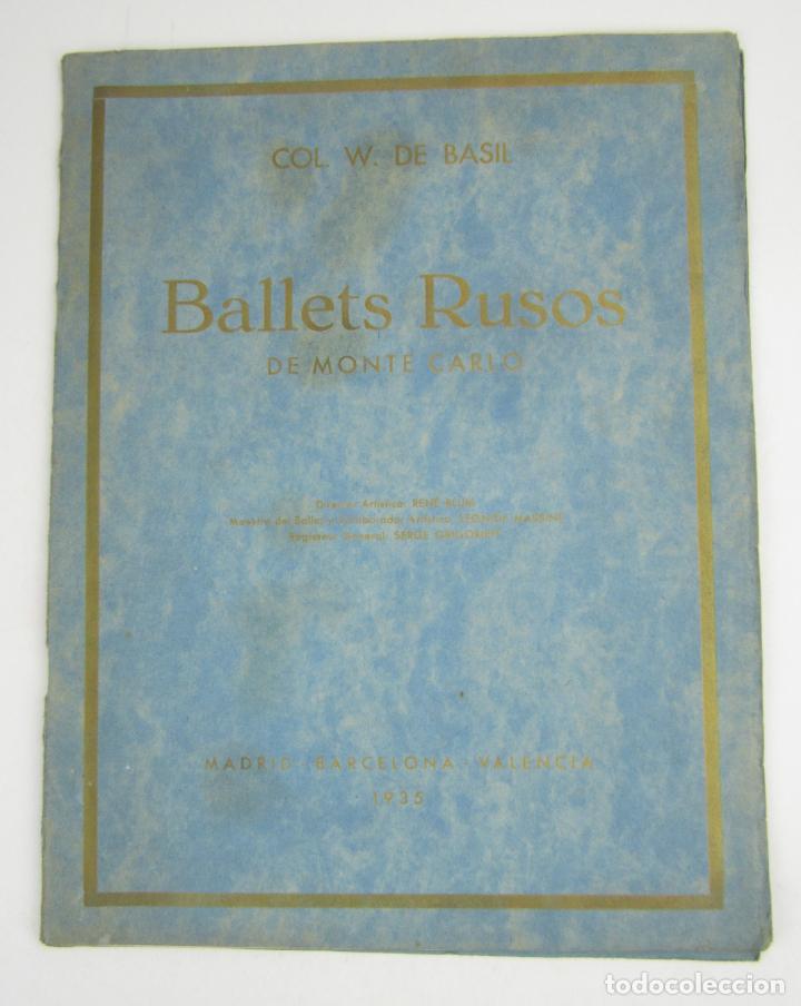 BALLETS RUSOS DE MONTE CARLO, W. DE BASIL, 1935, MADRID, BARCELONA, VALENCIA. 31X23,5CM (Coleccionismo - Revistas y Periódicos Antiguos (hasta 1.939))