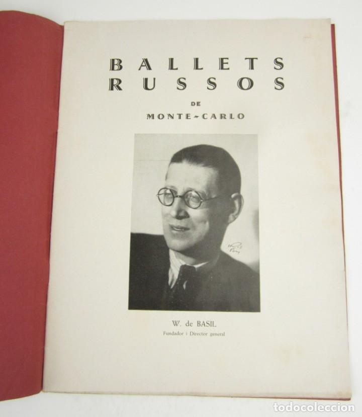 Coleccionismo de Revistas y Periódicos: Ballets rusos de Monte Carlo, W. de Basil, 1935, Madrid, Barcelona, Valencia. 31x23,5cm - Foto 2 - 148773130