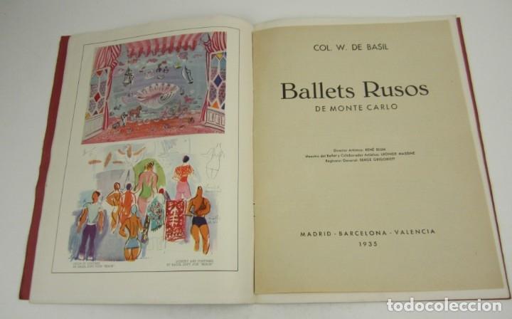 Coleccionismo de Revistas y Periódicos: Ballets rusos de Monte Carlo, W. de Basil, 1935, Madrid, Barcelona, Valencia. 31x23,5cm - Foto 3 - 148773130