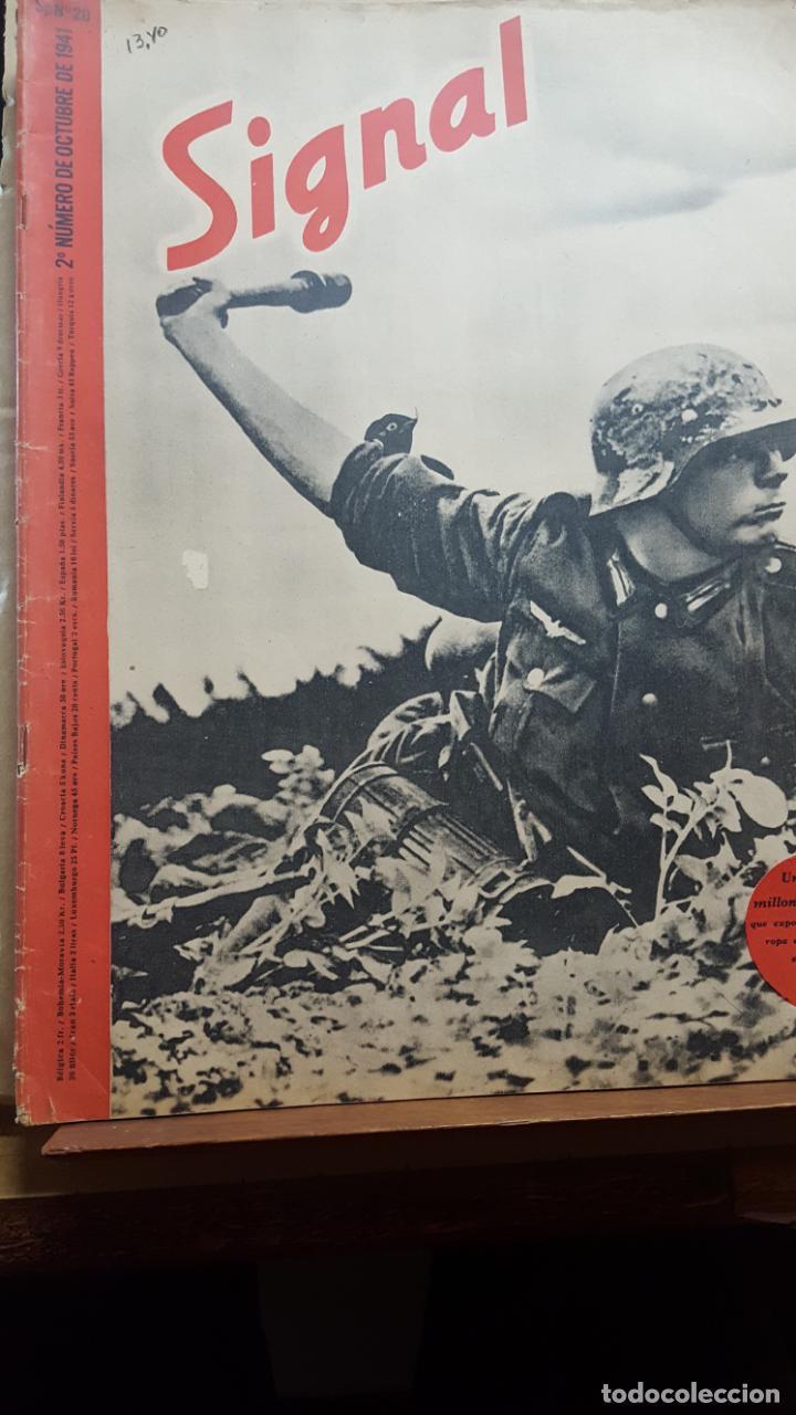 REVISTA SIGNAL.- OCTUBRE 1941.- NUMERO 20.- 48 PAGINAS (Coleccionismo - Revistas y Periódicos Modernos (a partir de 1.940) - Otros)