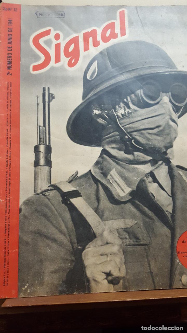 REVISTA SIGNAL.- JUNIO 1941.- NUMERO 12.- 48 PAGINAS (Coleccionismo - Revistas y Periódicos Modernos (a partir de 1.940) - Otros)