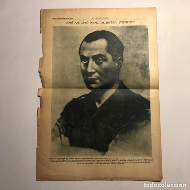 Coleccionismo de Revistas y Periódicos: 1939 La Vanguardia. Franco. José Antonio Primo de Rivera. 4 páginas - Foto 3 - 148843730