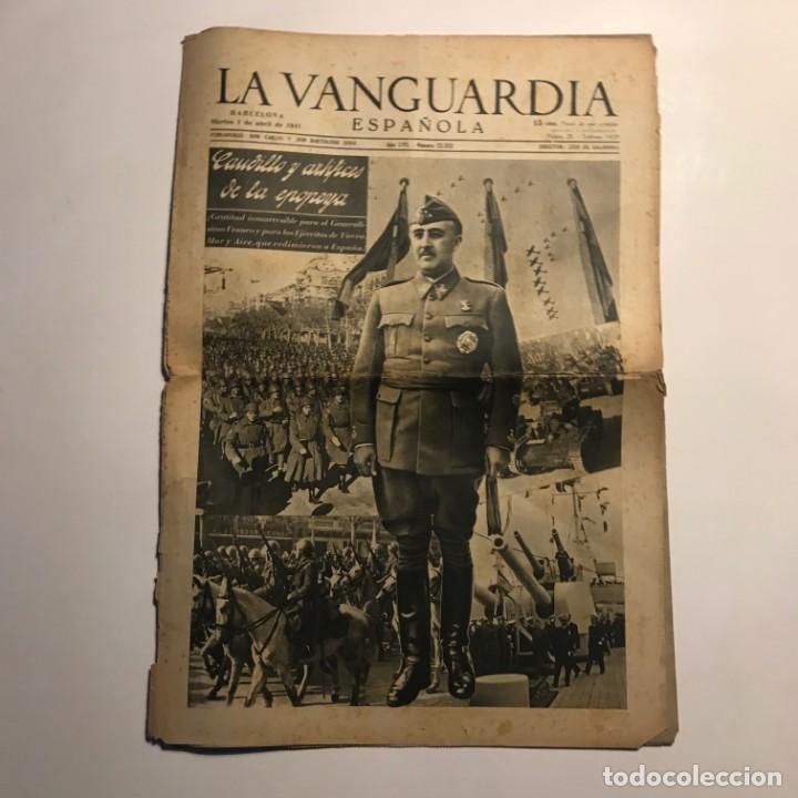 LA VANGUARDIA 1941 CAUDILLO Y ARTÍFICES DE LA EPOPEYA (Coleccionismo - Revistas y Periódicos Antiguos (hasta 1.939))