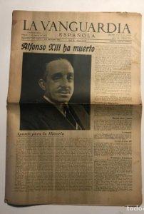La Vanguardia 1941 Alfonso XII ha muerto