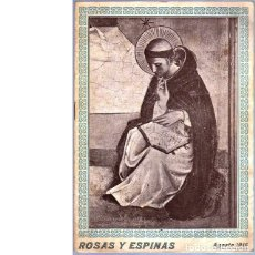 Coleccionismo de Revistas y Periódicos: ROSAS Y ESPINAS. AÑO II. NÚM. 20. AGOSTO DE 1918. Lote 100024411