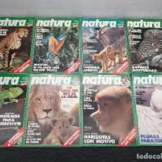 Coleccionismo de Revistas y Periódicos: LOTE DE 8 REVISTAS NATURA PRIMEROS NÚMEROS, 1 A 9 FALTANDO EL 8. (ENVÍO 4,31€). Lote 148862622